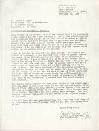 Letter from Joe Collins, Jr. to James Clyburn, February 11, 1977