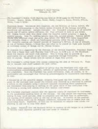President's Staff Meeting, College of Charleston, February 15, 1977