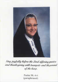 Tarjeta de agradecimiento de la hermana Maria Amelia Ferillo  /  Thank You Card From Sister Maria Amelia Ferrillo