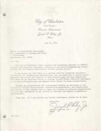 Letter from Joseph P. Riley, Jr. to Office of Neighborhood Development, June 21, 1978