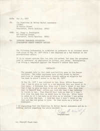 Letter from Peggy A. Washington to COBRA, May 31, 1977