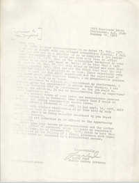 Letter from Leroy Ward to William K. Langford, February 18, 1977