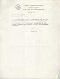 Letter from Jerry Nuss to William Langford, February 22, 1977