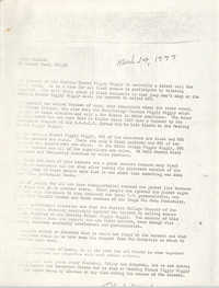 Robert Ford Press Release, March 14, 1977