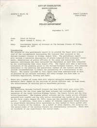Letter from John F. Conroy to Mayor Joseph P. Riley, Jr., September 6, 1977