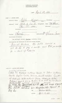 Community Relations Assistance Request, April 19, 1983