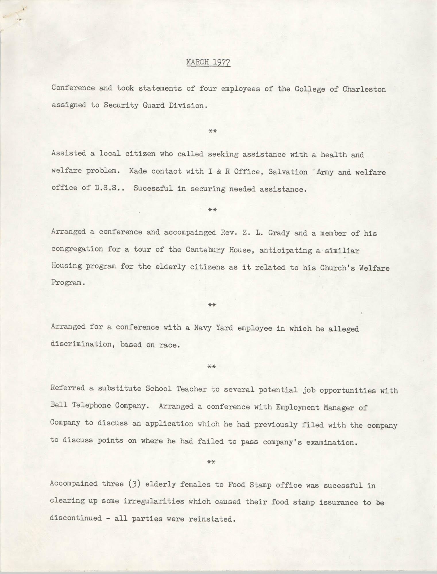 COBRA, March 1977