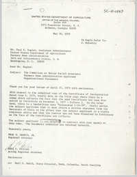 Letter from Fred W. Harris, Jr. and Paul T. Collier to Paul R. Kugler, May 16, 1979