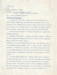 COBRA Memorandum from Aundrea I. Harney to Joyce Hampton, May 5, 1975