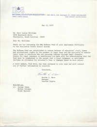 Letter from Martha L. Ware to Mary L. Williams, May 12, 1975