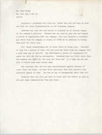 Statement by Mary Brown, January 2, 1976