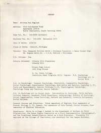 Arcrena Ann English Resume