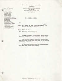 COBRA Memorandum, April 5, 1979