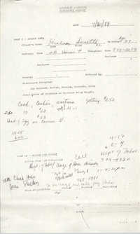 Community Relations Assistance Request, July 20, 1984