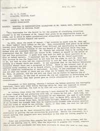 Medical University of South Carolina Memorandum, July 15, 1975