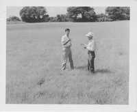 John R. Jeffries and W.H. Mikel, Jr. in a Field