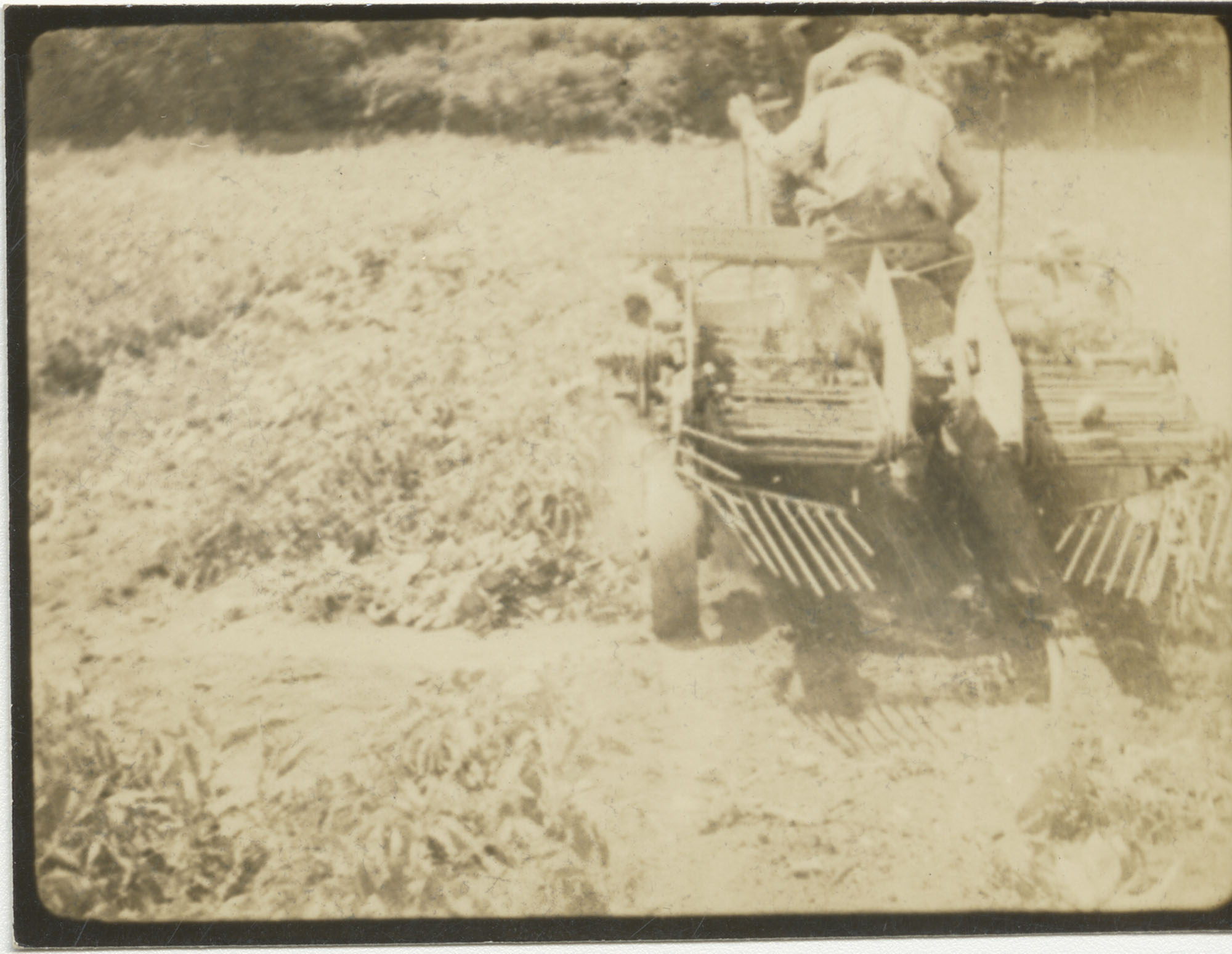 Unidentified Man Operating Agriculture Machinery