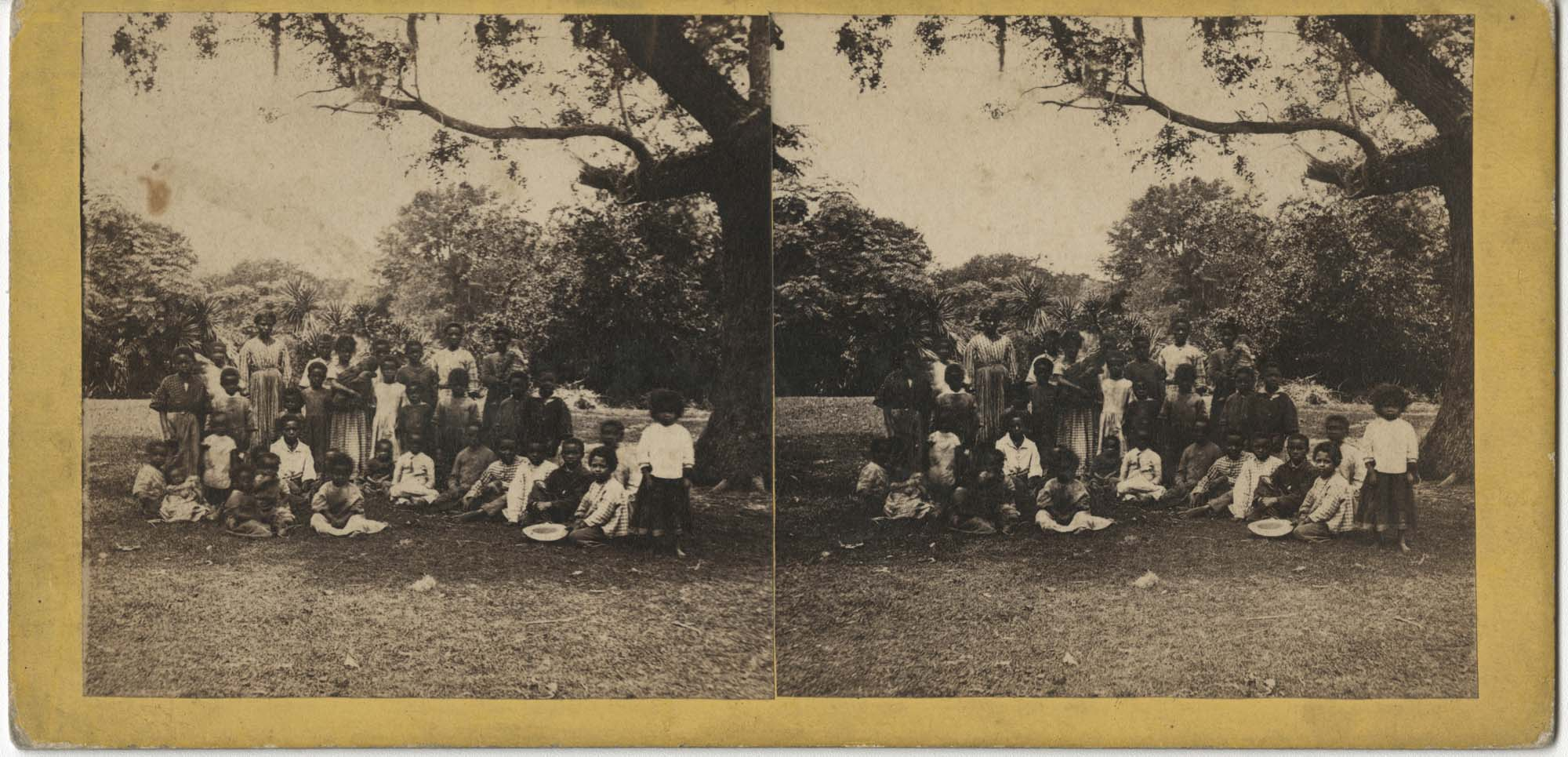 Group African American Children at Old Fort Plantation
