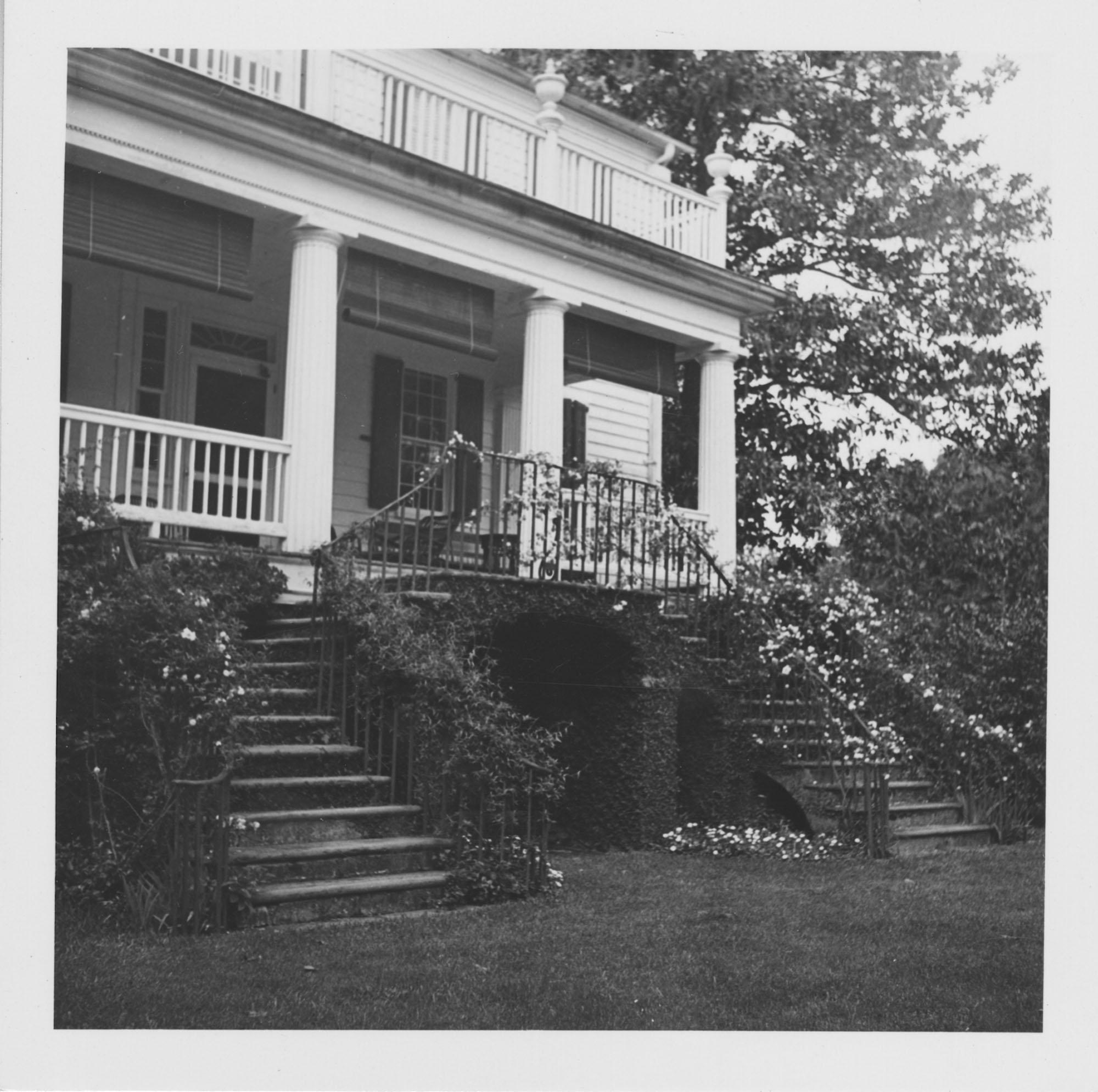Georgian Style House Porch