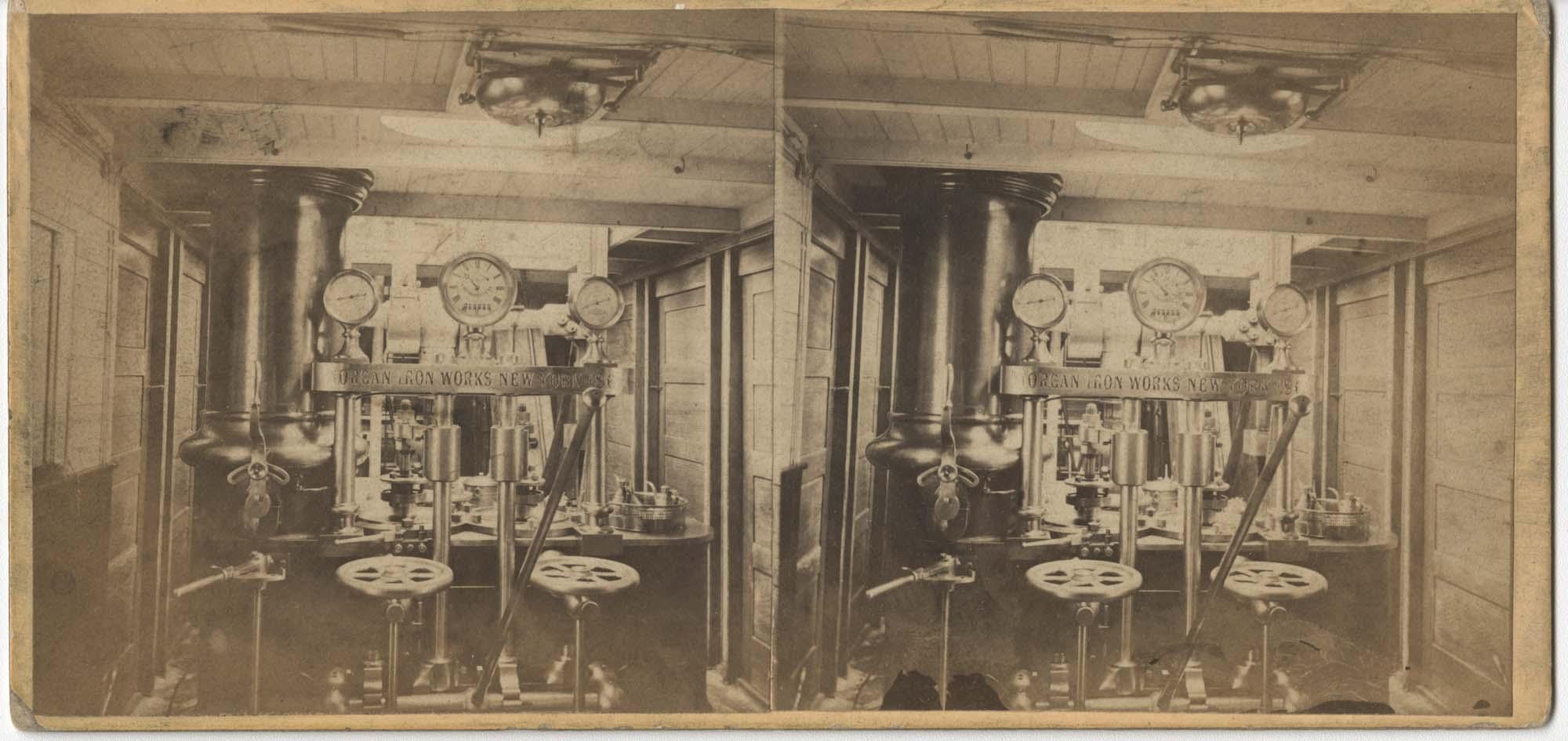Engine Room of a Steamer Ship