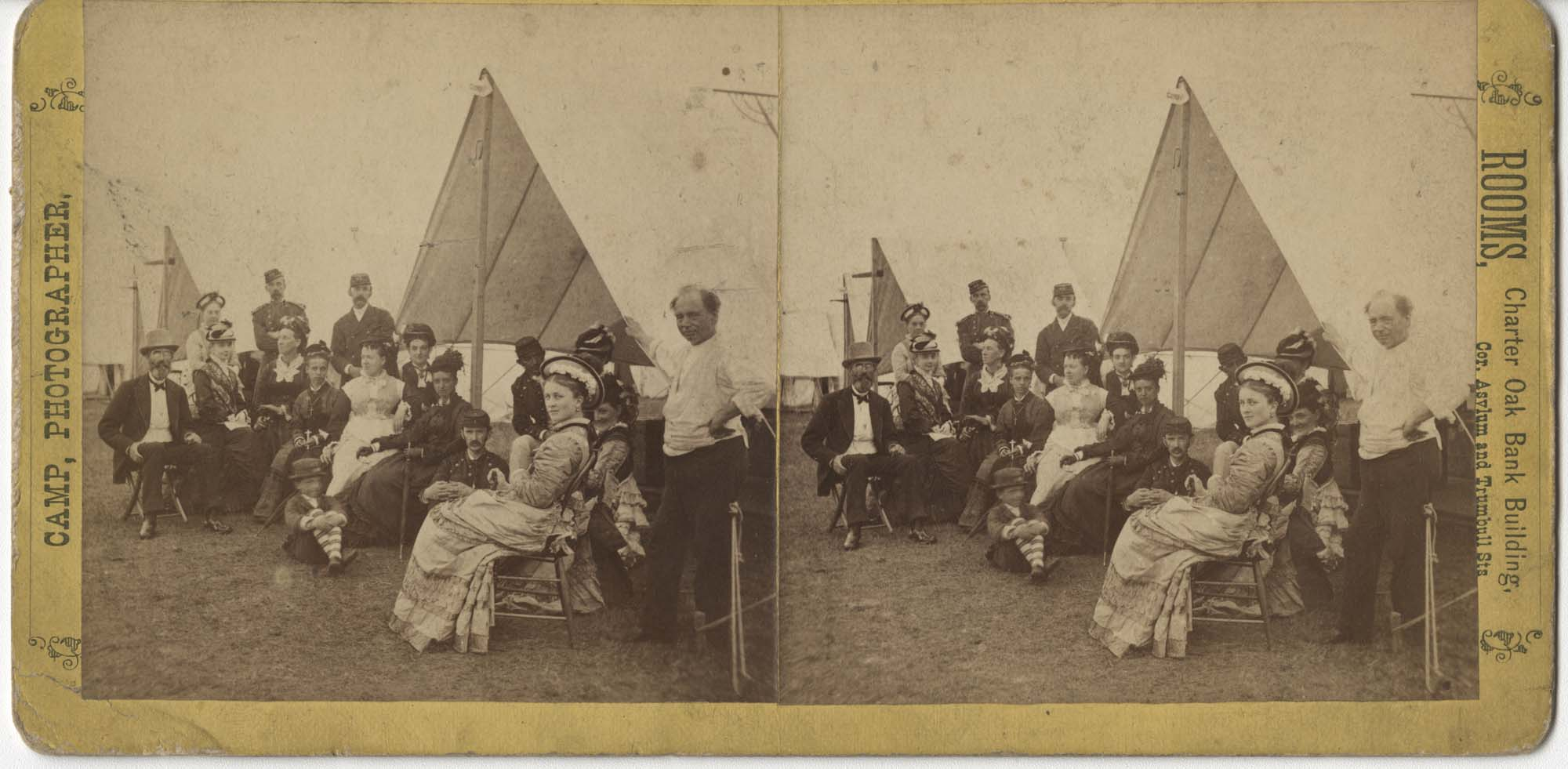Posed Group with Camping Tents