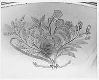 Punch Bowl with Engraved Flora