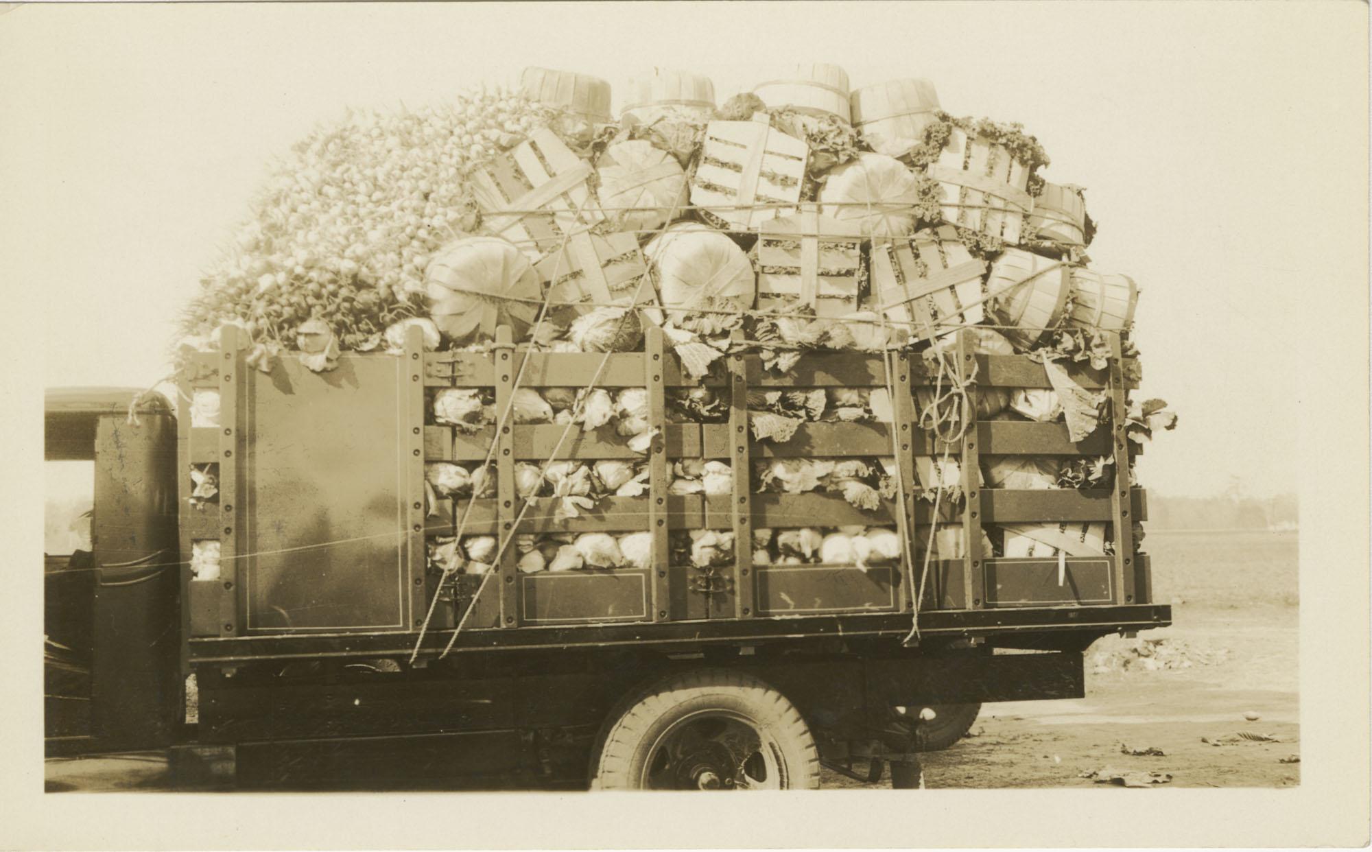 Truckload of Vegetables