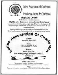 Volante de la Vigilia de Oración Interdenominacional  /  Interdenominational Prayer Vigil Flyer