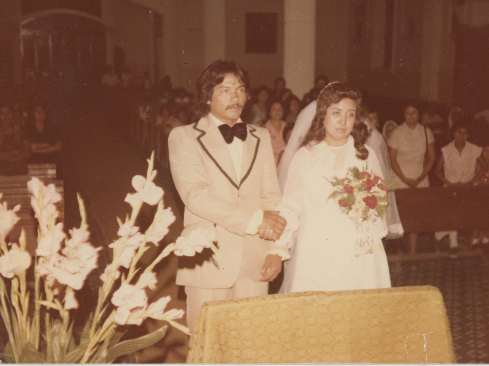 Fotografía de la boda religiosa de María y Jesús Bordallo / Photograph of María and Jesús Bordallo's Wedding Ceremony