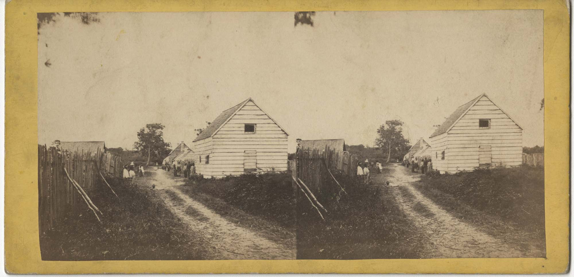 African Americans and Cabins at Retreat Planation