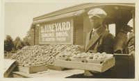 Roadside Peach Market with Salesman