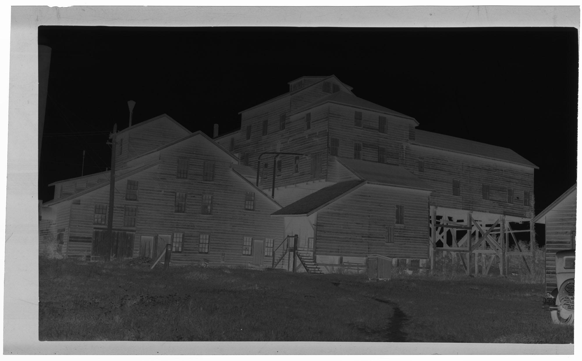 Negative of Bulow Mines Phosphate Mill