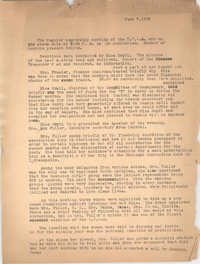Minutes, Coming Street Y.W.C.A., June 7, 1932