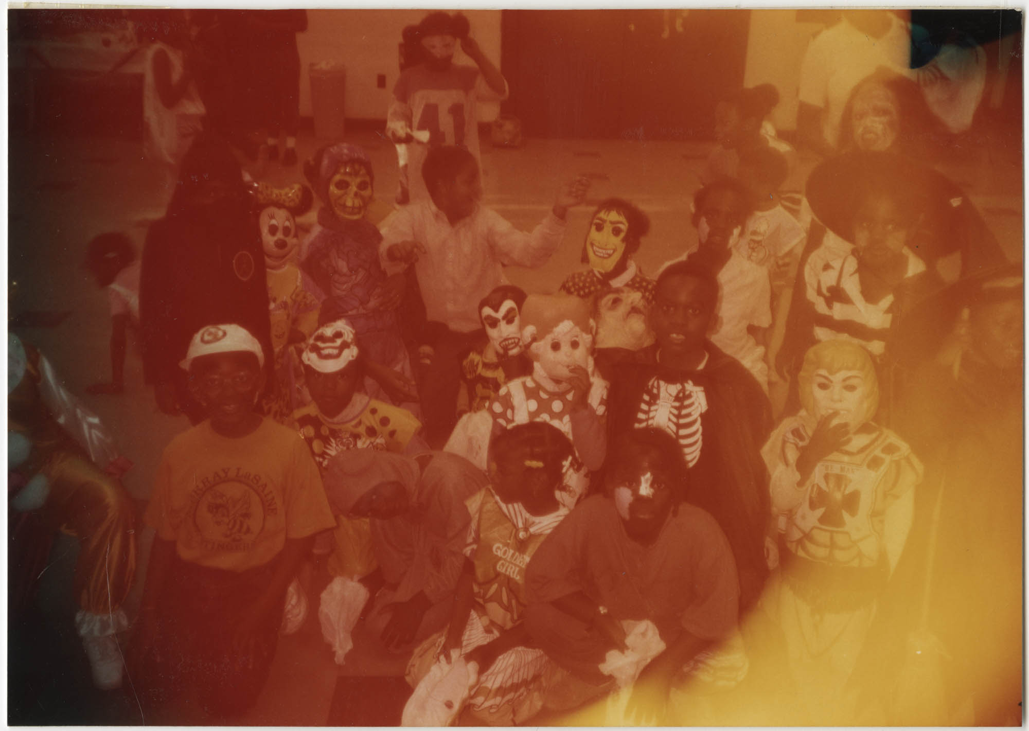 Photograph of Children in Halloween Costumes