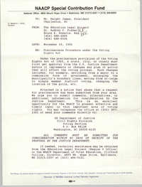 Memorandum, Education Legal Project, November 10, 1992