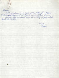 Handwritten letter from Reginald C. Barrett Jr. to Russell Brown