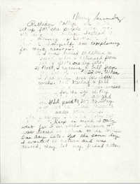 Handwritten letter by Marcy B.