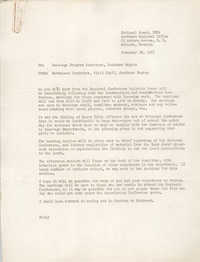 National Board of the Y.W.C.A. Memorandum, February 26, 1951