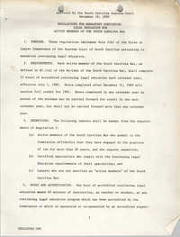 Regulations for Mandatory Continuing  Legal Education for Active Members of the South Carolina Bar, South Carolina Supreme Court, December 19, 1980