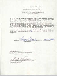 Membership Radiothon Campaign Pledge Statement, National Association for the Advancement of Colored People, 1990