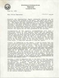 Memorandum, Department of Veterans Affairs, Medical Center, June 22, 1990