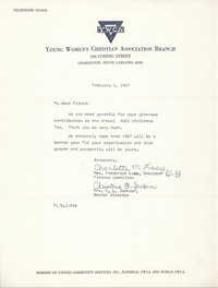 Letter from Mrs. Frederick Lacy and Christine O. Jackson, February 6, 1967