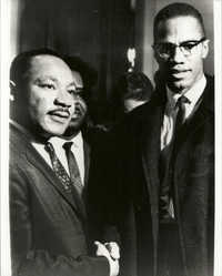 Photograph, Martin Luther King Jr. and Malcolm X