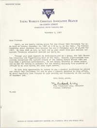 Letter from Mrs. Frederick Lacy to Friends, November 6, 1967