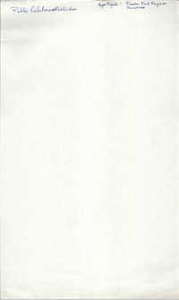 Handwritten List of Tasks, Public Relations/Publications