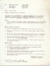 Y.W.C.A. of Greater Charleston Memorandum, June 22, 1977