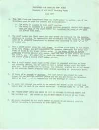 Procedures for Handling Y.W.C.A. Funds, June 1977