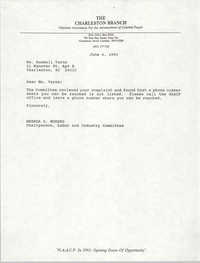 Letter from Brenda C. Murphy to Ruedell Varns, June 4, 1993