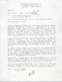 Memorandum, Dwight C. James, September 15, 1992