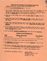 NAACP Membership Report Form, Janice Johnson